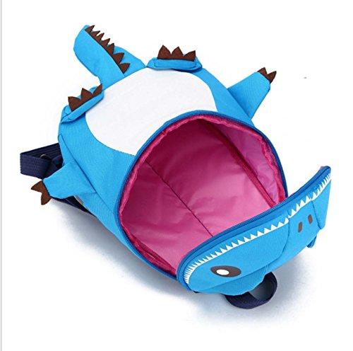 Los hombros de los niños mochila de dibujos animados estilo monstruo bolsa de viaje mochila Orange