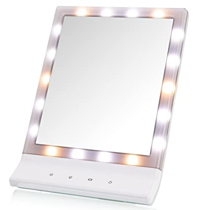 Amazon deweisn led lighted makeup mirror lighted vanity makeup deweisn led lighted makeup mirror lighted vanity makeup mirror smart touch cosmetic mirror with warm aloadofball Images