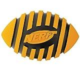 Nerf Dog Spiral Squeak Rubber Football Dog Toy, Small/Medium, Orange
