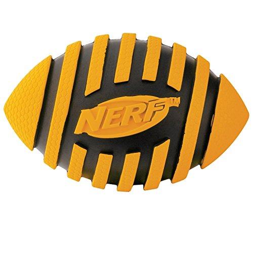 Nerf Dog Spiral Squeak Rubber Football Dog Toy, Medium/Large, Orange
