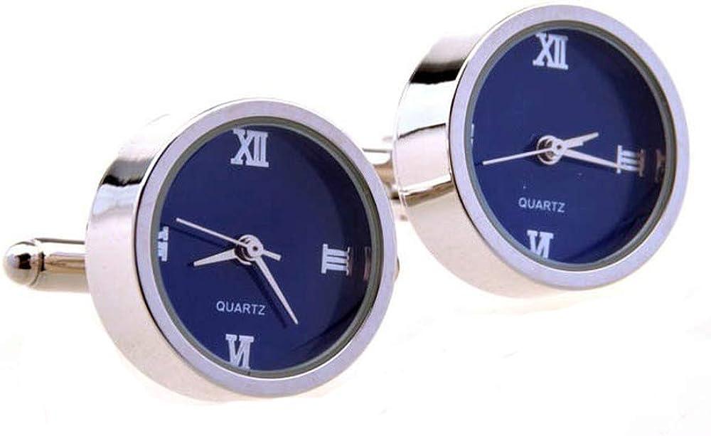 Gemelos De Reloj De Cuarzo De Acero Inoxidable Relojes Movimiento De Reloj Movimiento De Reloj ElectróNico Pernos Prisioneros (Azul)
