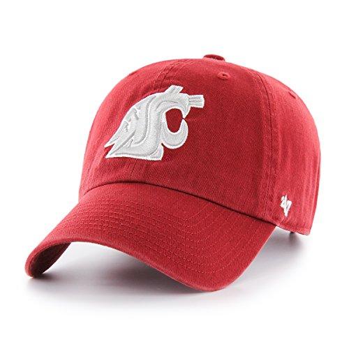 '47 NCAA Washington State Cougars Clean Up Adjustable Hat, One Size, Razor - State Key Cougars Washington