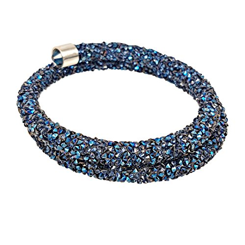 Crystal Wrap Bracelet (Sapphire Blue) Crystal Blue Collection