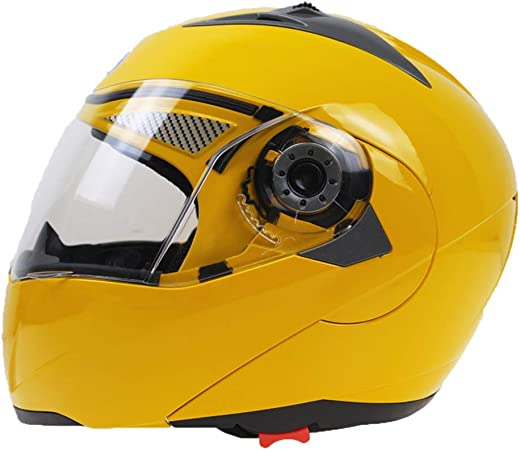 Casco integrale da moto con doppio specchio.