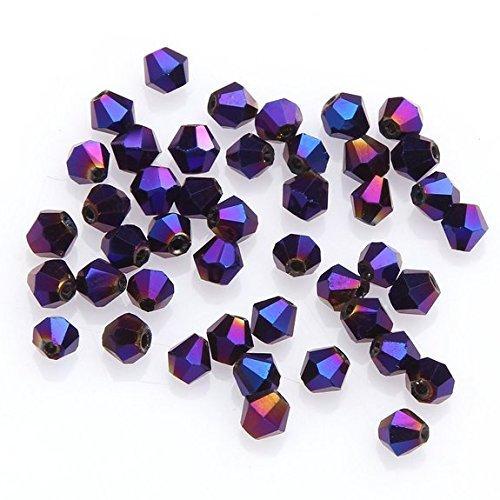 200 Amethyst 4 mm cristal redonda con cuentas de fabricación de joyas