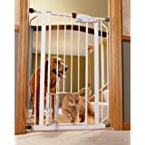 Carlson Pet Products 0941PW Extra Tall Walk-Thru Gate with Pet Door, White