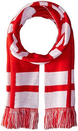 RUFFNECK National Soccer Team England Jacquard Knit Scarf, One Size, Red/White