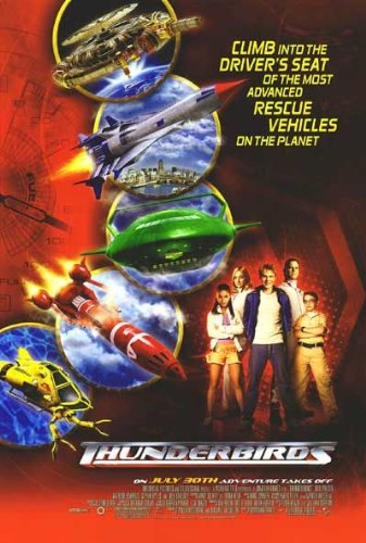 (THUNDERBIRDS Original Movie Poster 27x40 - Dbl-Sided - Bradly Corbet - Soren Fulton)