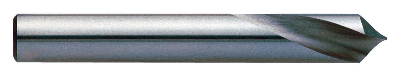 KEO 35643 Cobalt Steel NC Spotting Drill Bit 6mm Body Diameter Right Hand Flute Bright Long 90 Degree Point Angle Finish Uncoated 140mm Overall Length Round Shank