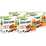 Sprout Organic Baby Food, Sprout Crispy Chews Organic Toddler Snacks, Orchard Fruit and Carrot 4 pack case of 20 Crispy Chews (4 boxes, 5 packets per box)