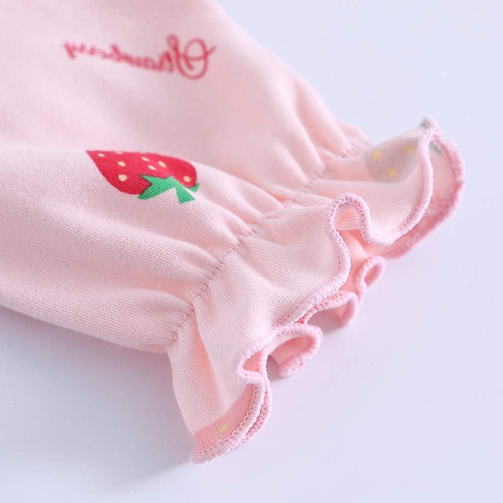 9-10 Anni 140 cm Coralup Ragazze 100/% Cotone Pizzo Camicia da Notte Nighties Princess Bowknot Strawberry Nightwear 2-13 Anni Rosa Fragola