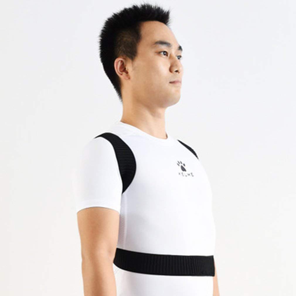 Correcci/ón Leoboone corrector de la postura jorobada escoliosis Cintur/ón de confort ajustable invisible de la correa para hombre simple de la mujer adulta