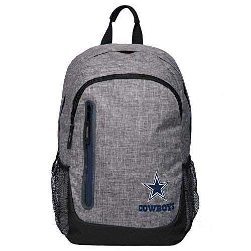 - Forever Collectibles NFL Dallas Cowboys Heather Grey Backpack, Team Color, One Size