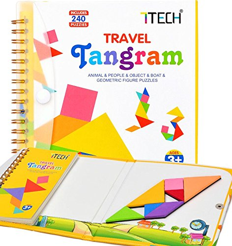 7TECH Magnetic Puzzles Book Jigsaw Travel Game Set Learning Educational Toys 240 Pattern by 7TECH