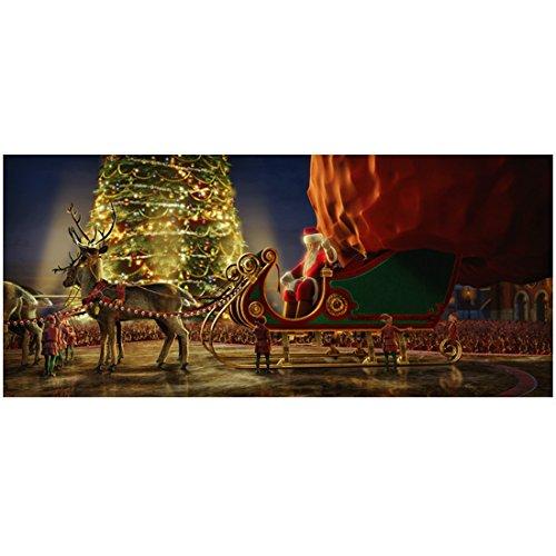 The Polar Express Santa and his sleigh 8 x 10 Inch Photo