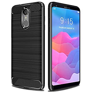 ASMART LG Q7 Plus Case, LG Q7+ Case, LG Q7 Case, Resilient Shock Absorption LG Q7 Plus Phone Case Slim Flexible TPU Cover Soft Light Weight Protective Case for LG Q7 Plus/LG Q7a (Blue)