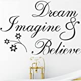 Dream believe DIY Removable Art Vinyl Quote Wall Sticker Decal Mural Home Room D¨¦cor