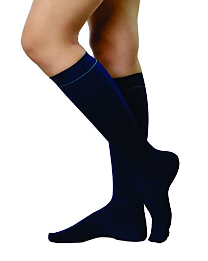 84486f2154337c Lively Energising Graduated Compression Socks!! Travel Support Socks for  Women and Men!! Ideal for all day wear !! For Active Feet (M, Blue):  Amazon.in: ...