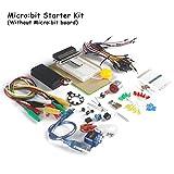MakerFocus Micro:bit Starter Kit without Development Board include Micro:bit Breadboard Adapter,Transparent Breadboard,TowerPro SG-90 Mini Servo for Learning and Programming