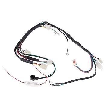 baoblaze 100cm black plastic kick start engine electric wiring harness loom  wire atv pit dirt bike, starters - amazon canada