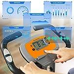 SONGMICS-Cyclette-Pieghevole-Bicicletta-da-Allenamento-Resistenza-Magnetica-a-8-Livelli-con-Tappeto-Protettivo-Sensore-dImpulso-Supporto-Cellulare-capacita-di-Carico-100-kg