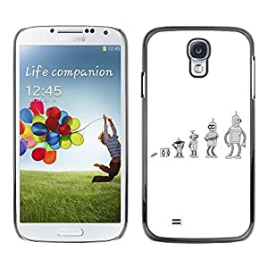For SAMSUNG Galaxy S4 IV / i9500 / i9515 / i9505G / SGH-i337,S-type® Future Cartoon Bend Metal Shiny - Arte & diseño plástico duro Fundas Cover Cubre Hard Case Cover