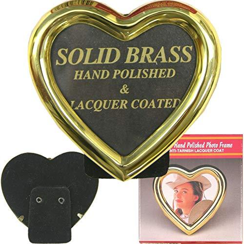 Viet Hand Heart Shape Brass Picture Frame 3