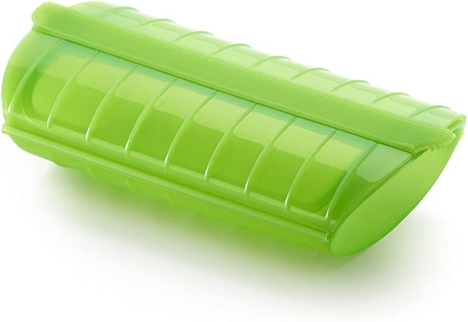 Lékué - Estuche de vapor, 1-2 personas, color verde: Amazon.es: Hogar