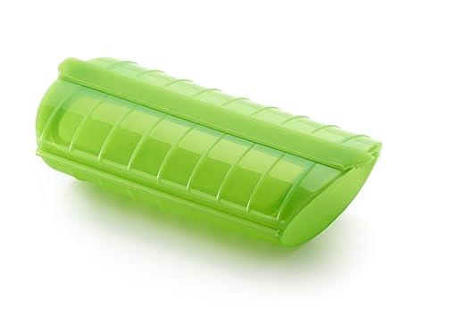 Lékué - Estuche de vapor, 1-2 personas, color verde