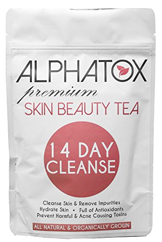 Alphatox 14 Day Premium Skin Beauty Tea Cycle | Full of Anti-oxidants, Prevents Acne, Toxin Removal | 14 Herbal Tea Bags | Organic Tea
