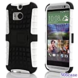 HTC M8 Case,m8 Case,htc Case,no5case*new*[kickstand][shockproof][lightweight]best Fit Perfect Protection Simple and Elegant (White)