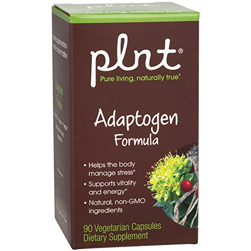 - plnt Adaptogen Formula Made with Natural, NonGMO Ingredients to Help The Body Manage Stress Support Vitality Energy (90 Vegetarian Capsules)