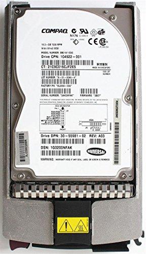 18GB 1\'\' WIDE ULTRA2 SCSI Drive/CARRIER,BB01811C9C,104922-001,FW3B07