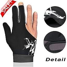 Billiard Gloves,Jelinda Billiards Pool Snooker Cue Shooters Gloves Snooker Gloves Elastic Lycra 3 Fingers Show Gloves for Man and Women