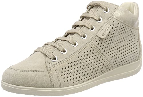 Sneaker Alto D Donna lt Myria Collo Geox A B Taupe Beige wCtPYaxq