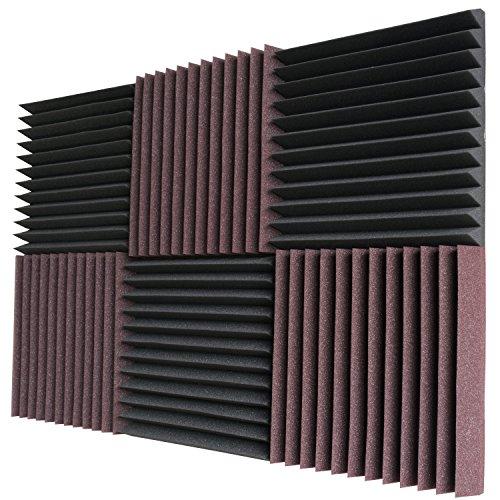 6-pack-burgundy-charcoal-acoustic-panels-studio-soundproofing-foam-wedges-2-x-12-x-12