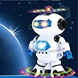 Electronic Dancing LED Robot Astronaut Toy with Flashing Lights and Music