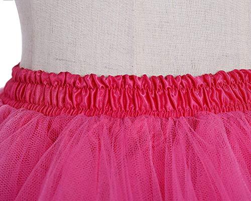 Fiesta Falda Rainbow Enagua Vintage Niñas Y Roja Memoryee 50's Mujeres Para Tutu Rosa De Tul Adult xwqXfSC0