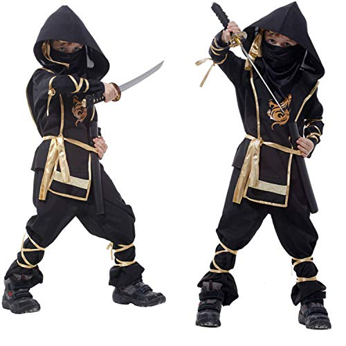 California Costumes Toys Stealth Ninja - Boy, Girl Halloween Costume Cosplay Outfit Themed Birthdays Party(4-12 Years Old) Black]()