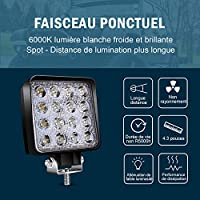 2pcs 48w 4in barra led spot faros antiniebla luces de marcha atrás ...