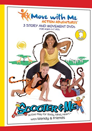 - Kids Yoga DVDs - Scooter & Me Mind Series (Set of 3) for Focus, Self-Awareness & Self-Control