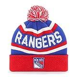 ranger hockey hat - NHL New York Rangers Jasper OTS Cuff Knit Cap with Pom, Royal, One Size