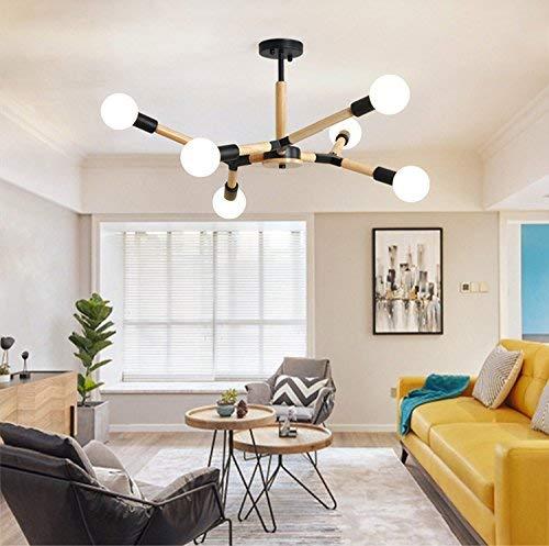 Amazon.com: Lámpara de techo con lámpara de araña de rama de ...