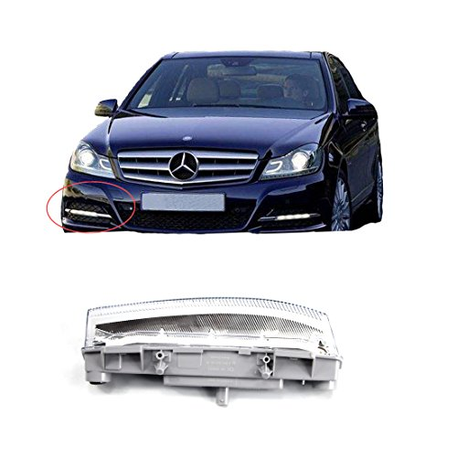 Vakabva 2049069000 Mercedes Benz Right DRL Fog Lamp LED Daytime Running Lamp Fog Light for 2007-2015 Mercedes Benz C Class W204 C250 C300 C350 E Class W212 E350