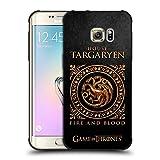 Official HBO Game Of Thrones Targaryen Metallic Sigils Shockproof Matte Black Case For Samsung Galaxy S7 edge