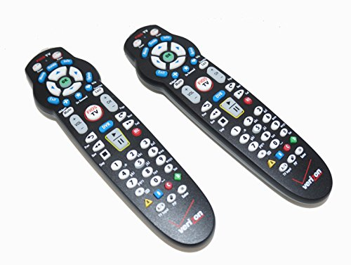 Set of TWO Verizon FiOS TV Replacement Remote Controls by Frontier works with Verizon FiOS systems (Best Dvr For Fios)