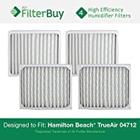 4 - 04712 Hamilton Beach True Air Replacement Air Purifier Filters. Designed by FilterBuy to Fit True Air Model # 04381.
