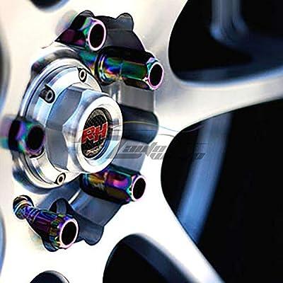 EZAUTOWRAP Green 20 PCS M12x1.25 Lug Nuts 60mm Extended Tuner Aluminum Wheels Rims Cap WN02: Automotive