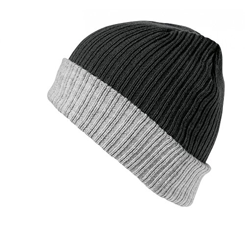 Modelo Negro Gris Essentials Capa Punto Doble Winter Gorro Result 0BwIaq