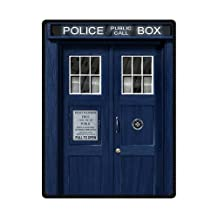"Generic Custom Doctor Who Police Box The Tardis Fleece Throw Blanket 58"" x 80"""